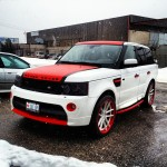 Range Rover Matte White and Red